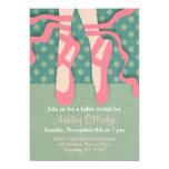 Invitación bonita del decreto del ballet invitación 12,7 x 17,8 cm