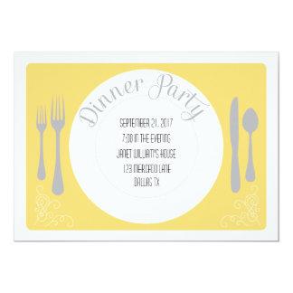 Invitación bonita del fiesta de cena de la placa