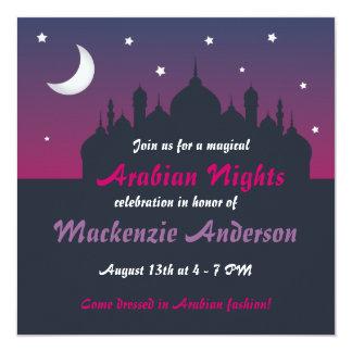 Invitación bonita del fiesta de las noches árabes