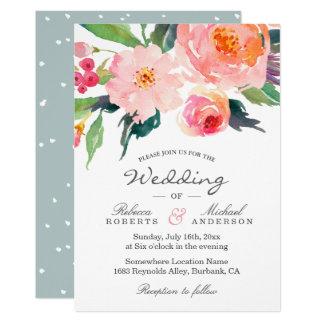 Invitación botánica del boda de la acuarela