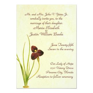 Invitación botánica del boda del vintage