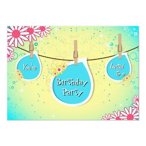 Invitación brillante de la fiesta de cumpleaños de