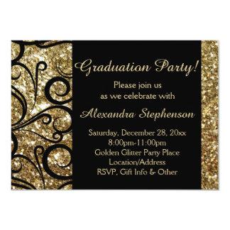 Invitación brillante de la fiesta de graduación
