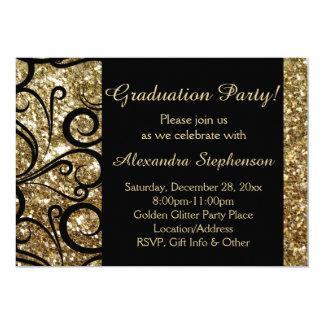 Invitación brillante de la fiesta de graduación invitación 12,7 x 17,8 cm
