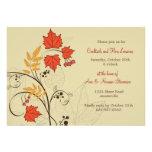 Invitación brillante de las hojas