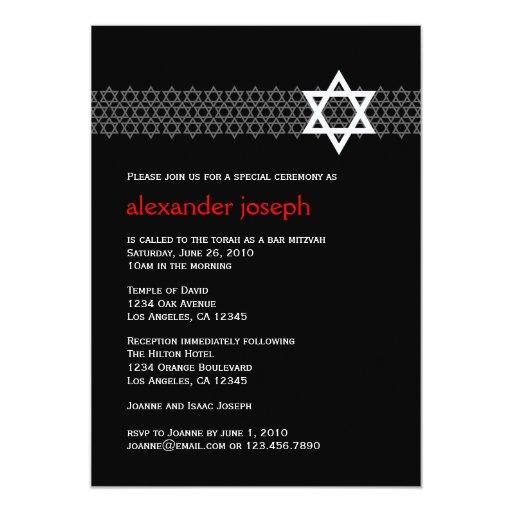 Invitación brillante de Mitzvah de la barra de la