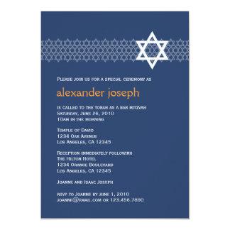 Invitación brillante de Mitzvah de la barra de la Invitación 12,7 X 17,8 Cm