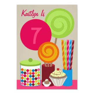 Invitación brillante del caramelo y de la fiesta