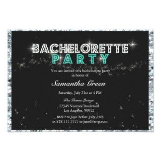 Invitación brillante del fiesta de Bachelorette de