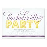 Invitación brillante del fiesta de Bachelorette de Invitación 12,7 X 17,8 Cm