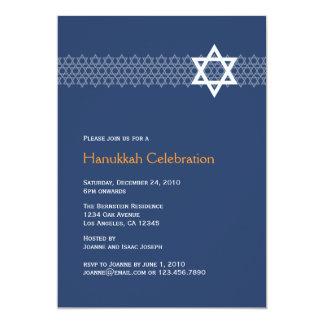 Invitación brillante del fiesta de Jánuca de la Invitación 12,7 X 17,8 Cm