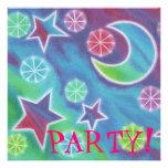 Invitación brillante del fiesta de la noche