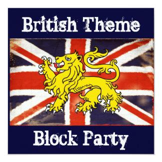 Invitación británica de la fiesta de barrio de
