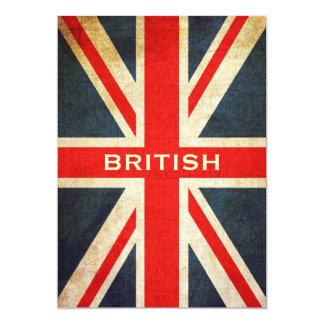Invitación británica de Union Jack del Grunge