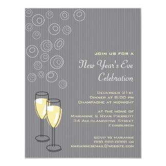 Invitación burbujeante de los Años Nuevos de