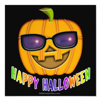 Invitación - calabaza de la linterna de Halloween