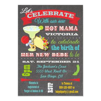 Invitación caliente de la mamá fiesta de
