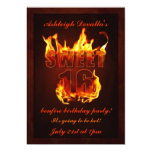 Invitación caliente del fiesta de la hoguera del invitación 12,7 x 17,8 cm