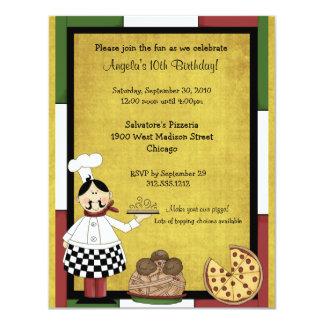 Invitación caliente del fiesta del cocinero de la invitación 10,8 x 13,9 cm