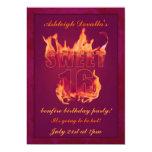 Invitación caliente rosada del fiesta de la invitación 12,7 x 17,8 cm