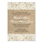 Invitación CALIENTE rústica del boda de la