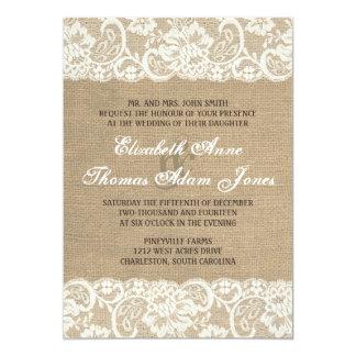 Invitación CALIENTE rústica del boda de la Invitación 12,7 X 17,8 Cm