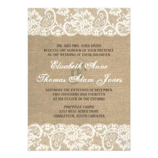 Invitación CALIENTE rústica del boda de la arpille