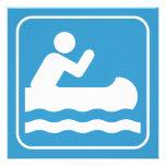 Invitación Canoeing del símbolo