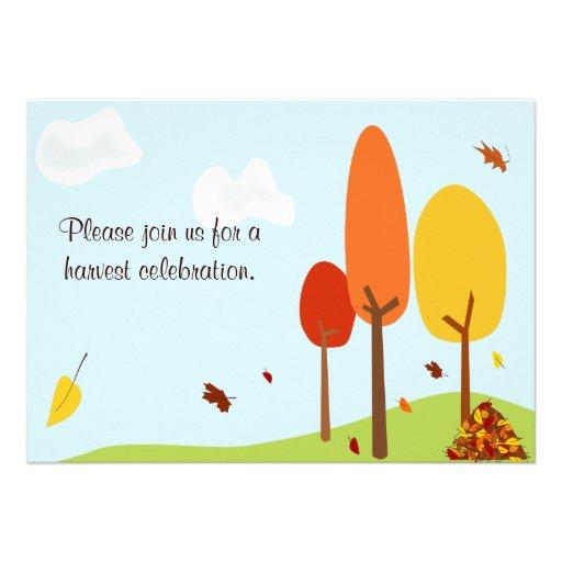 Invitación caprichosa de los árboles del otoño