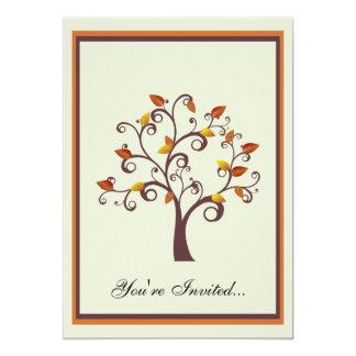 Invitación caprichosa del árbol de la caída