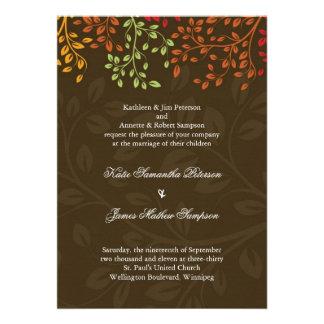Invitación caprichosa del boda de la caída