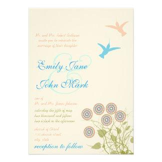 Invitación caprichosa del boda de la flor y del pá