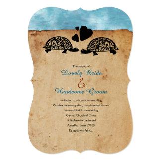 Invitación caprichosa del boda de la tortuga de la