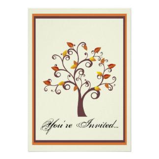Invitación caprichosa del boda del árbol de la caí