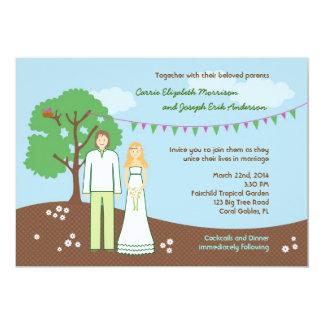 Invitación caprichosa del boda del carácter