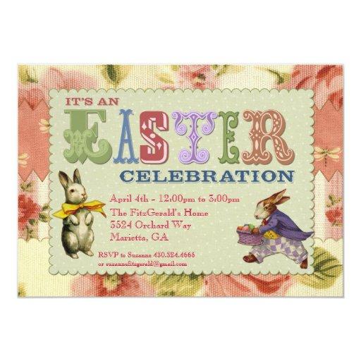 Invitación caprichosa del fiesta de Pascua Invitación 12,7 X 17,8 Cm