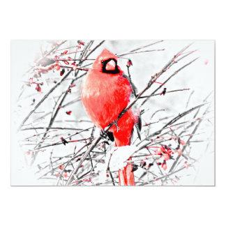 Invitación cardinal roja brillante del retiro del