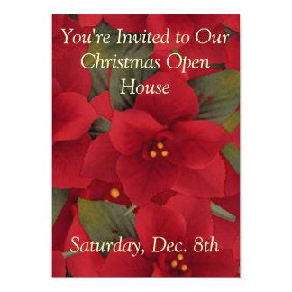 Invitación--Casa abierta del Poinsettia
