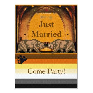Invitación casada californiana del fiesta del oso invitación 16,5 x 22,2 cm