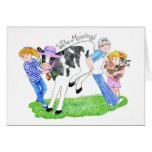 Invitación casera de la vaca de Mooving nueva Tarjeta