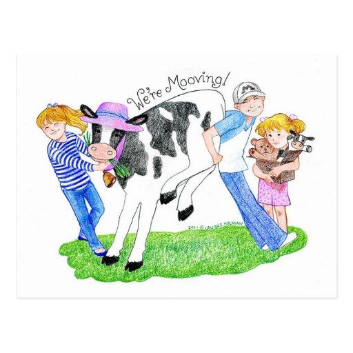 Invitación casera de la vaca de Mooving nueva Postal
