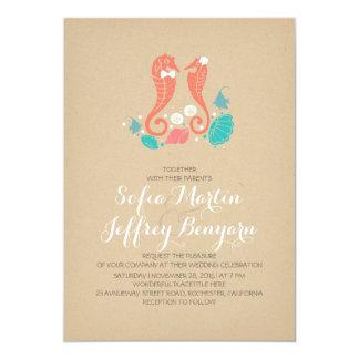 Invitación casual del boda de playa de los invitación 12,7 x 17,8 cm