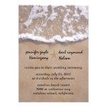 Invitación casual del boda del tema de la playa