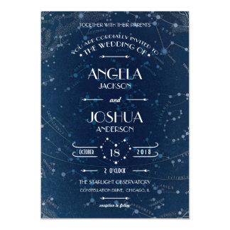 Invitación celestial del boda