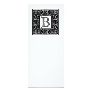 Invitación céltica con monograma de plata del boda invitación 10,1 x 23,5 cm