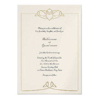 Invitación céltica del boda
