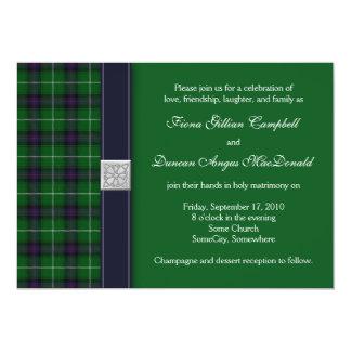 Invitación céltica del boda del tartán adaptable