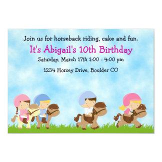 Invitación, chicas y muchachos del cumpleaños de invitación 12,7 x 17,8 cm