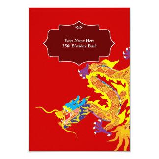 Invitación china afortunada del dragón