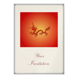 Invitación china del acontecimiento del fiesta del invitación 12,7 x 17,8 cm